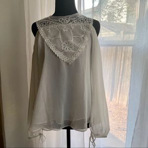 Disney Beauty and the beast White lace blouse